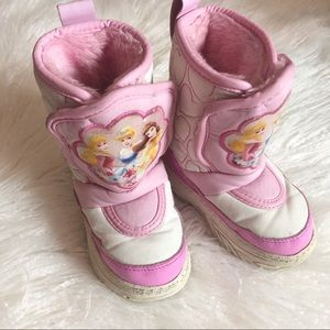Disney Princess 5-6 Quilted Snow Boots
